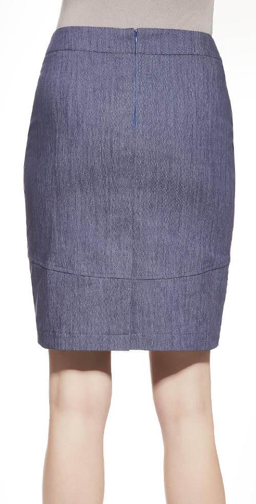 Riflová sukně pro silnější postavy