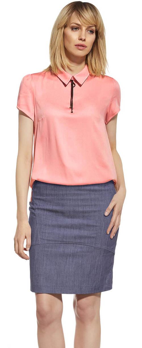 XXL tužková sukně v džínové barvě