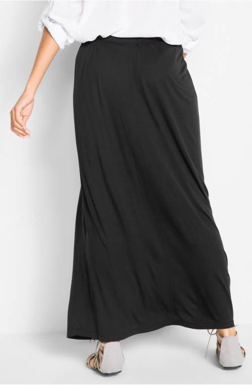 Dlouhá černá dámská sukně
