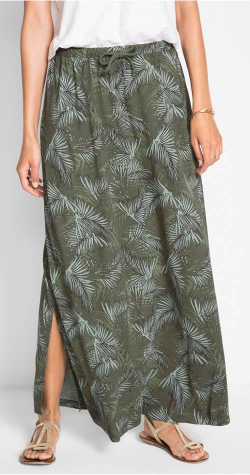 Tepláková sukně s postranním rozparkem