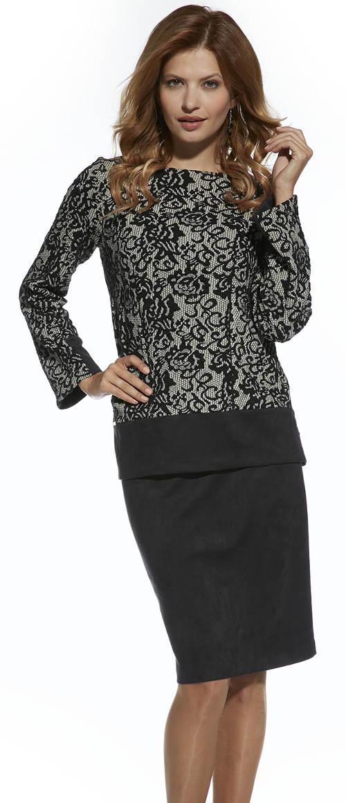 Černá přiléhavá sukně s podšívkou