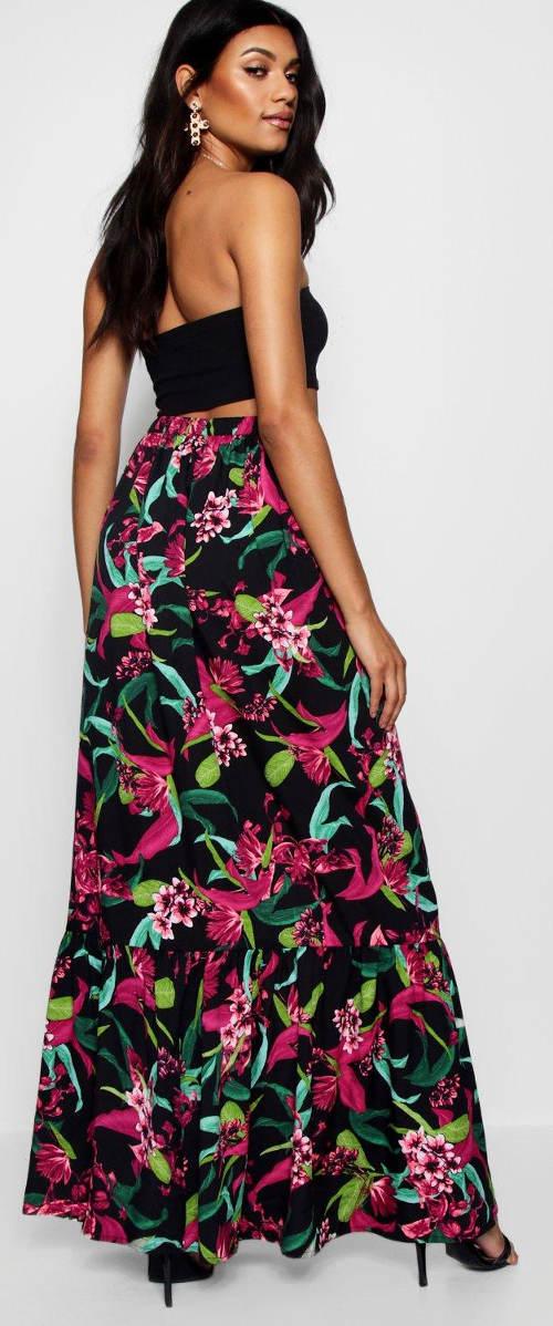 Dlouhá sukně s květinovým potiskem