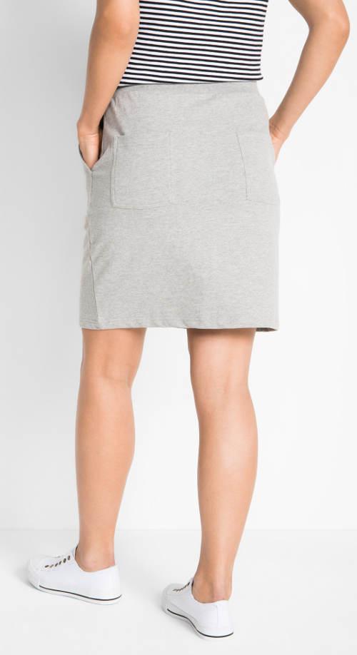 Pohodlná sukně z teplákoviny