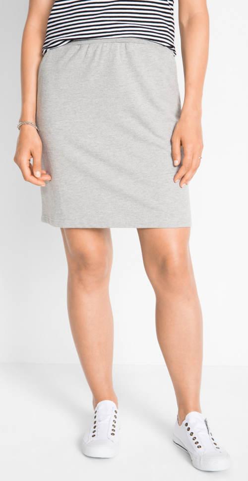 Tepláková šedá sukně