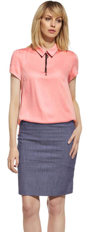 Tužková džínová sukně vypasovaného střihu
