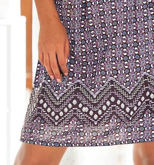 Lehká letní sukně pro plnoštíhlé