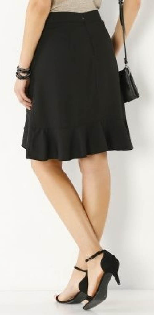Černá sukně s volánkem