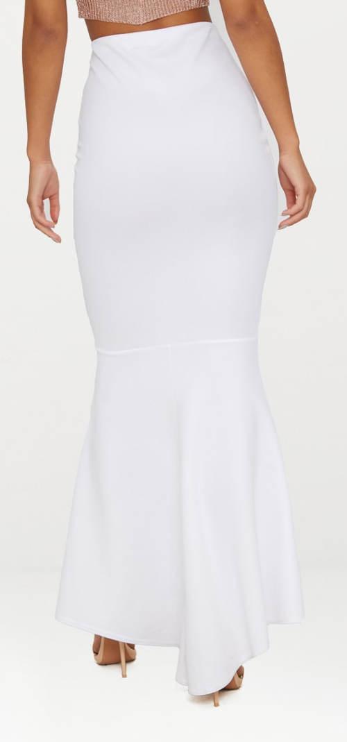 Dlouhá bílá společenská sukně