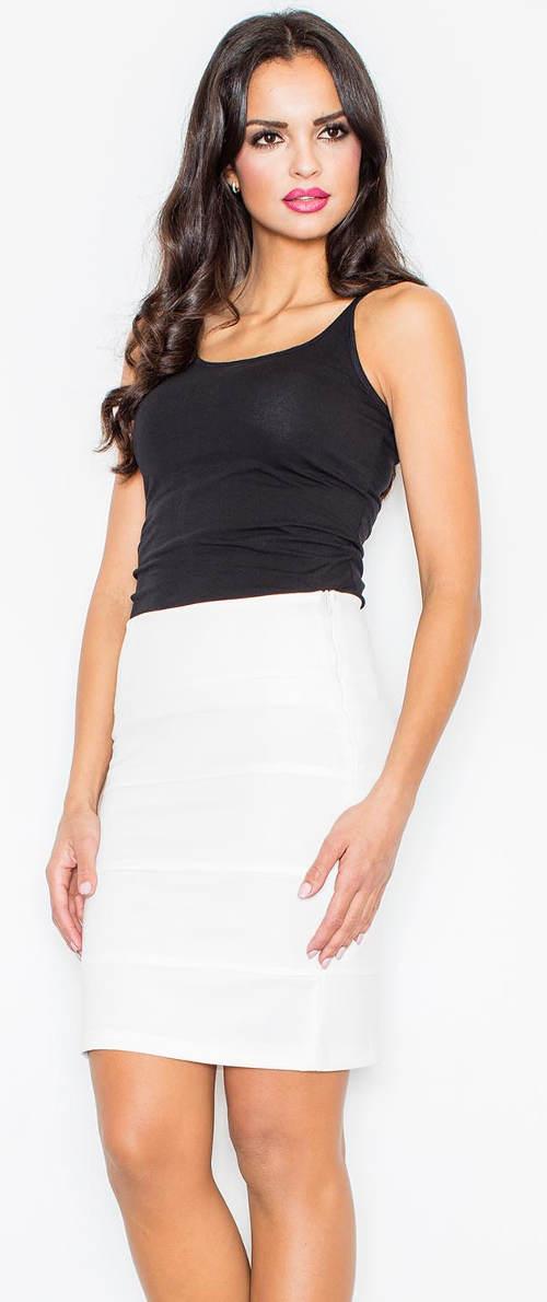 Elegantní sukně s vyšším pasem