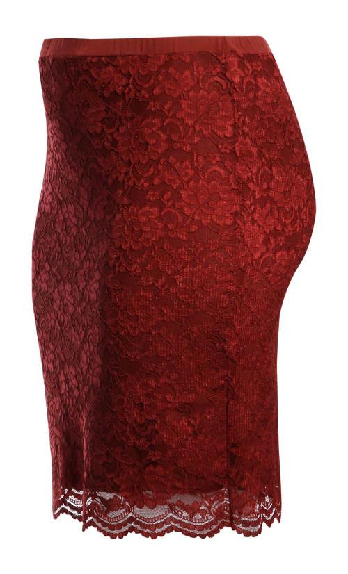 Krajková dámská sukně do gumy