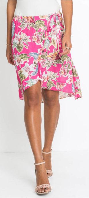Lehounká zavinovací sukně