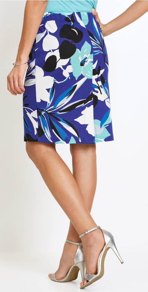 Letní květinová sukně pro plnoštíhlé