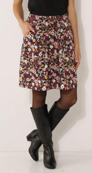Levná výprodejová sukně s květinovým potiskem