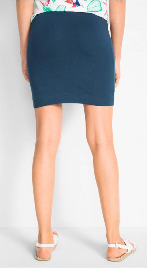 Modrá strečová sukně