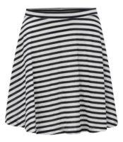 Pruhovaná áčková sukně s gumou v pase