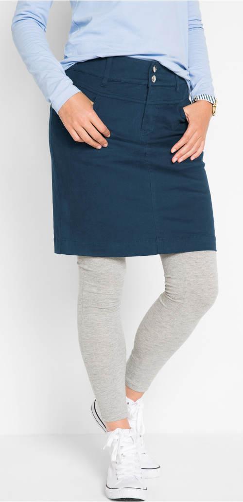 Riflová sukně k legínam