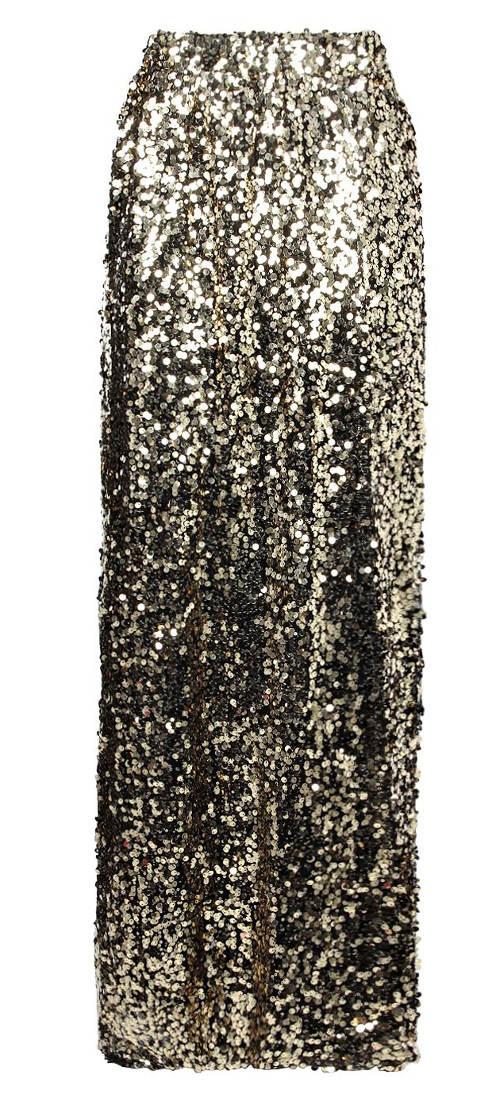 Společenská sukně s lesklými flitry
