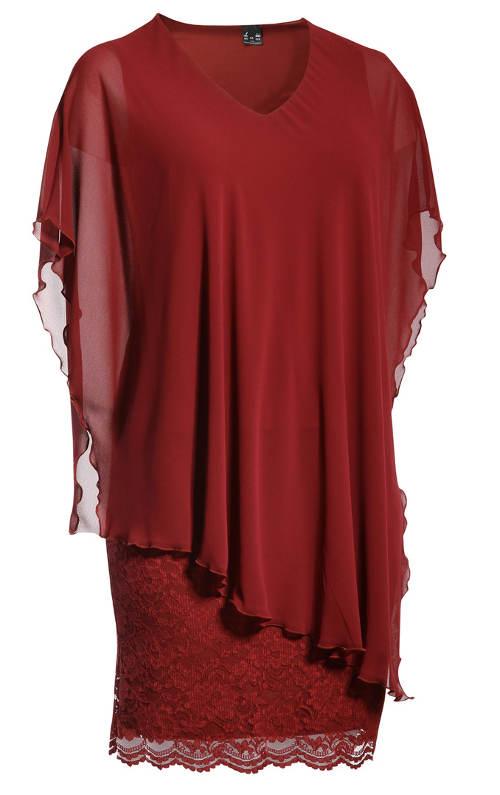 Vínová krajková sukně ke společenské halence