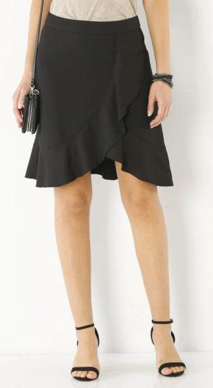 Volánová sukně zavinovacího vzhledu