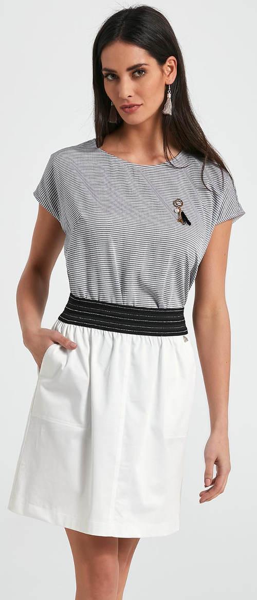 Bílá dámské sukně v délce ke kolenům