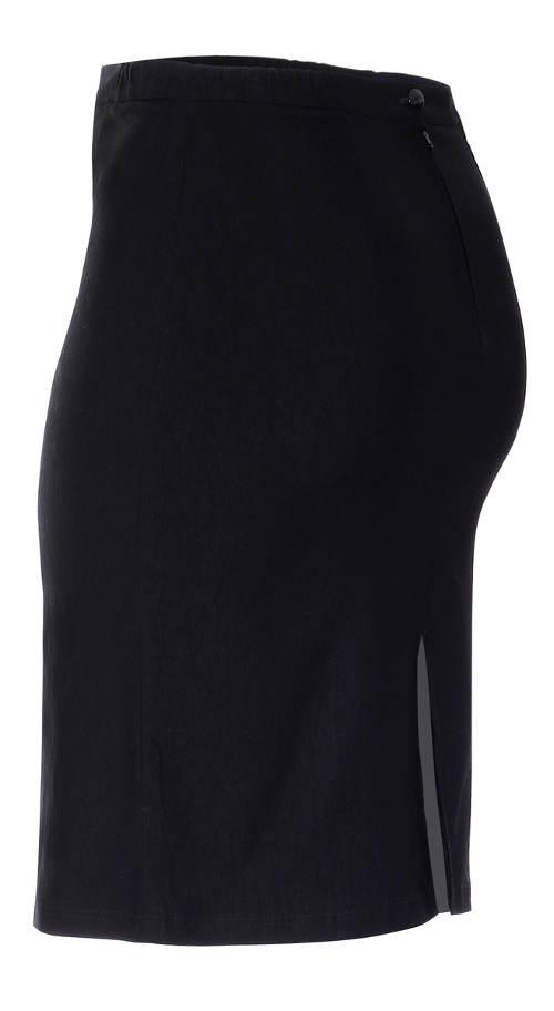 Černá úzká společenská sukně pro plnoštíhlé