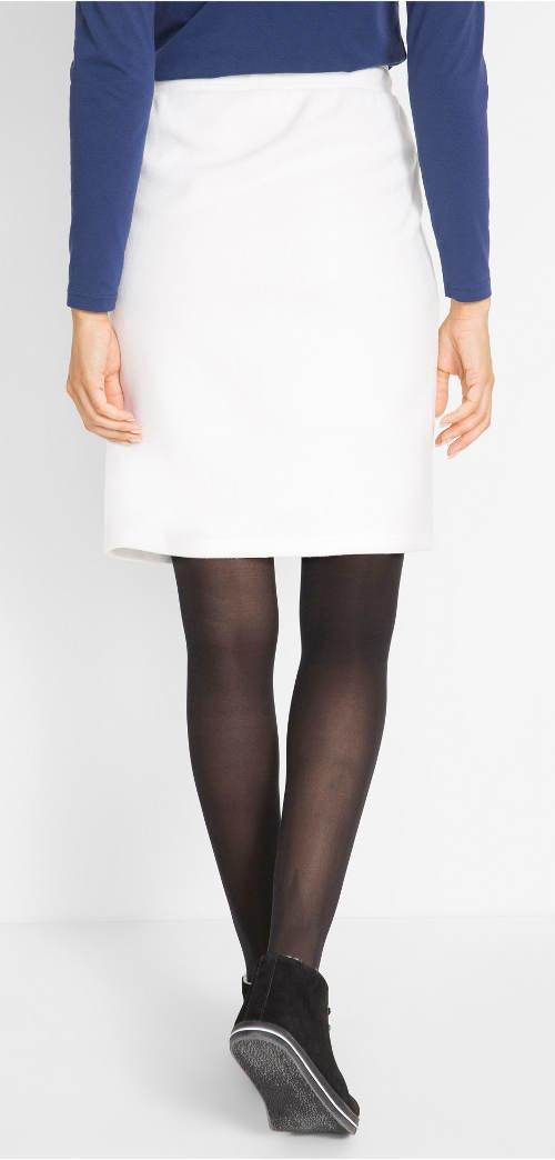 Jednobarevná bílá sukně Jednobarevná ... 907fd0c460