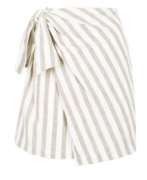 Letní krátká zavinovací sukně