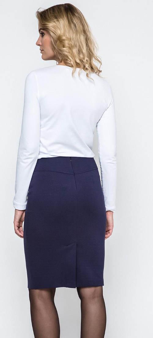 Modrá společenská sukně
