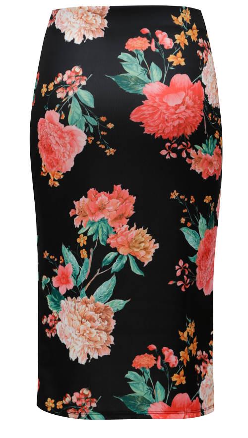 Pouzdrová sukně s gumou v pase