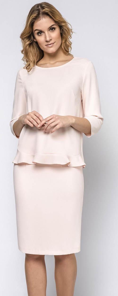 Světle růžová dámská sukně
