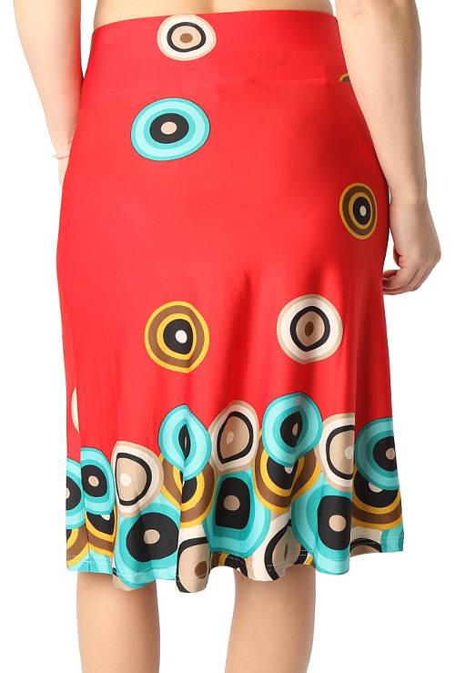 Červená dámská sukně