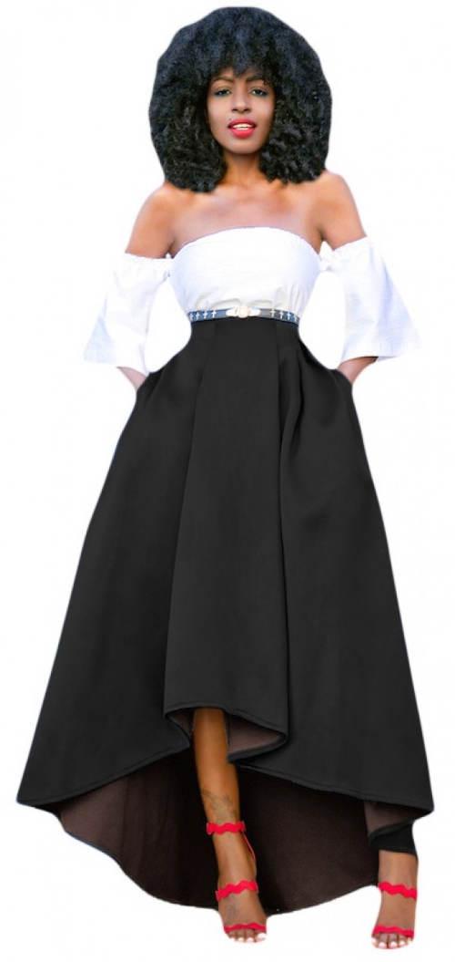 Dlouhá černá xxl maxi sukně