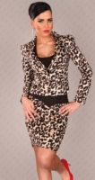 Leopardí dámská sukně