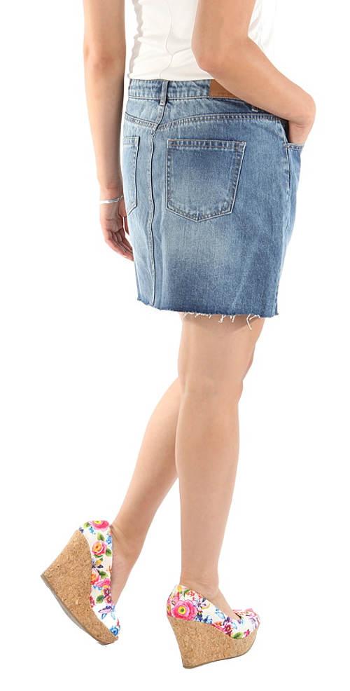 Levná riflová sukně