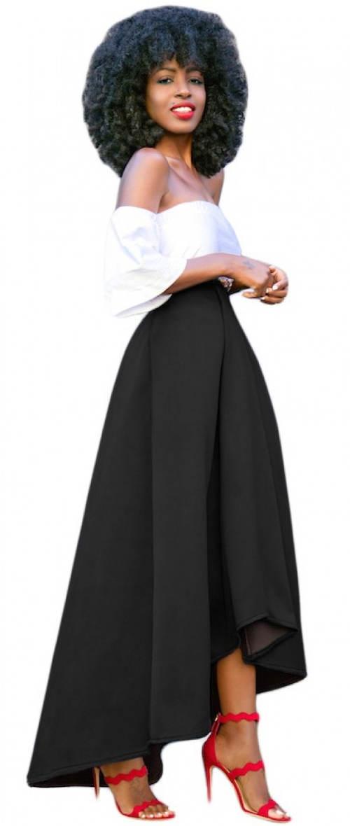 Maxi sukně až na zem