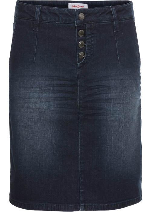 Tmavě modrá šisovaná sukně