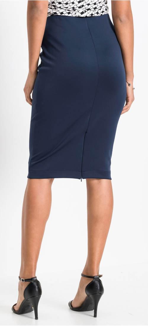 Úzká modrá společenská sukně