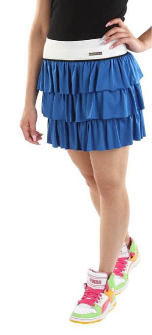 Vrstvená modrá sportovní sukně