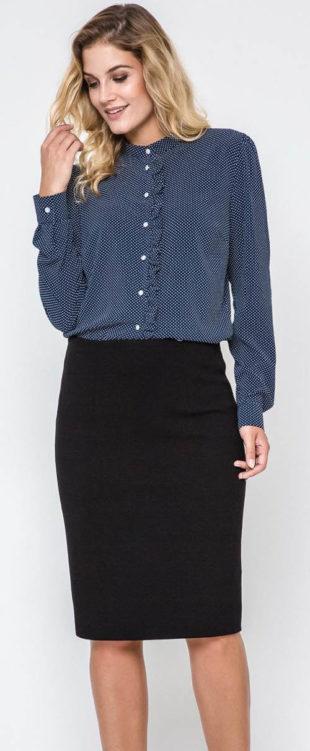 Černá společenská sukně na boční zip
