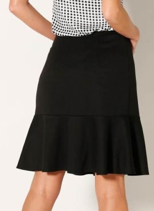 Černá sukně na skrytý zip