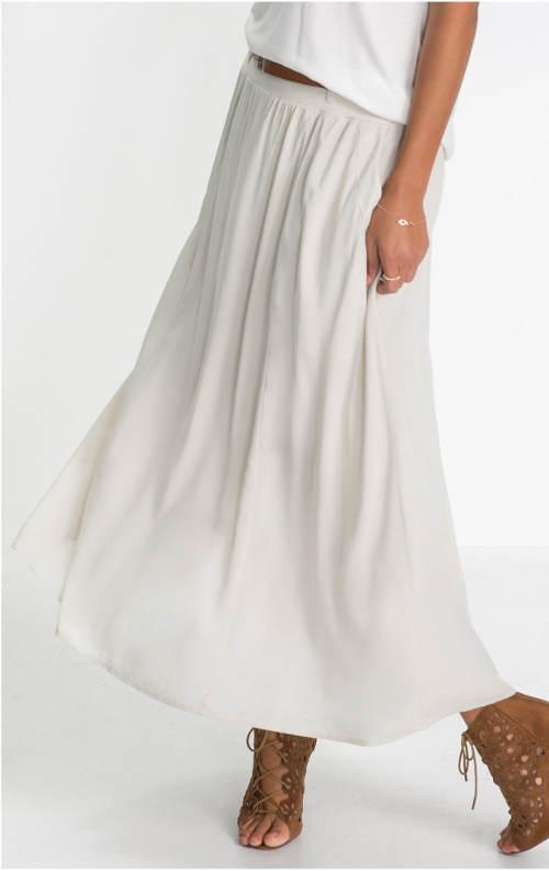 Dlouhá bílá sukně do gumy