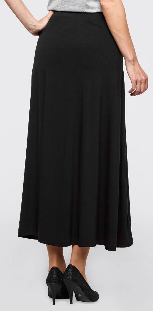 Dlouhá černá úpletová sukně