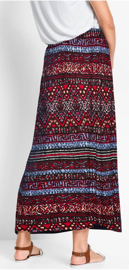 Dlouhá dámská sukně na gumu