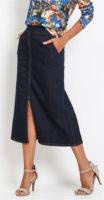 Dlouhá džínová dámská sukně
