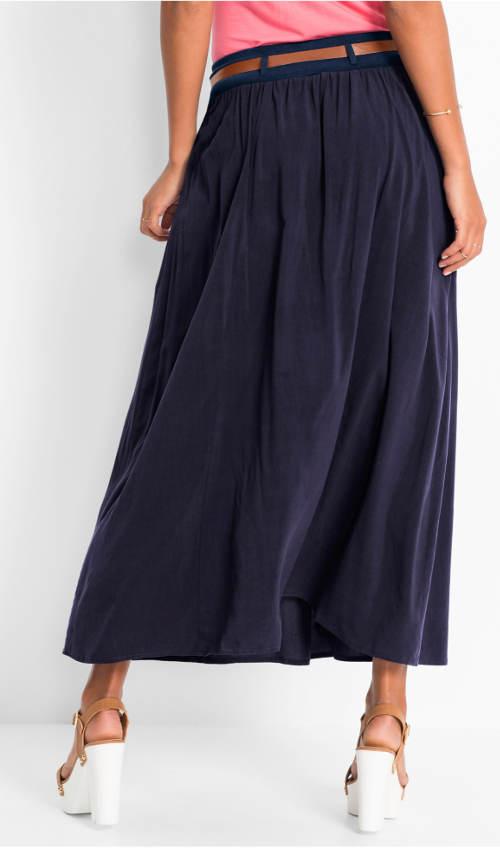 Dlouhá modrá dámská sukně