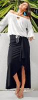 Dlouhá sukně v zavinovacím vzhledu