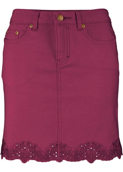 Fialová džínová sukně