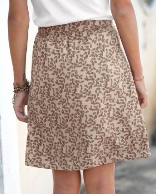 Hnědá dámská sukně nad kolena