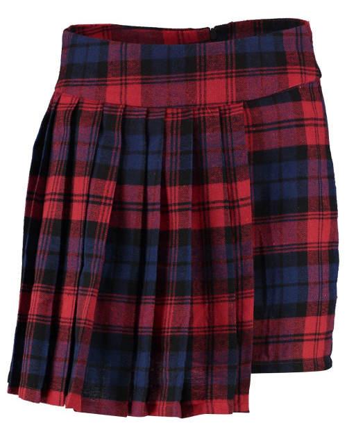 Kratičká karovaná sukně