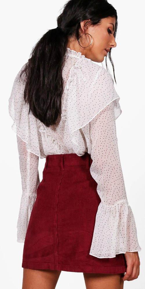 Krátká červená dámská sukně